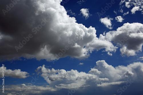 Fotografie, Obraz  Cumulus mediocris & Cumulonimbus calvus