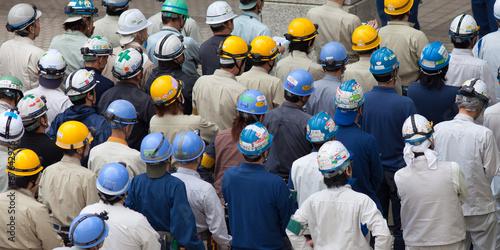 Fotografia Arbeiter in der Fabrik