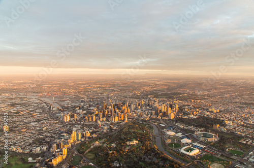 Foto op Canvas Australië Melbourne at dawn