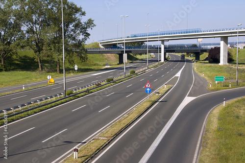 Foto op Plexiglas Motorsport Highway in capital Zagreb in Croatia