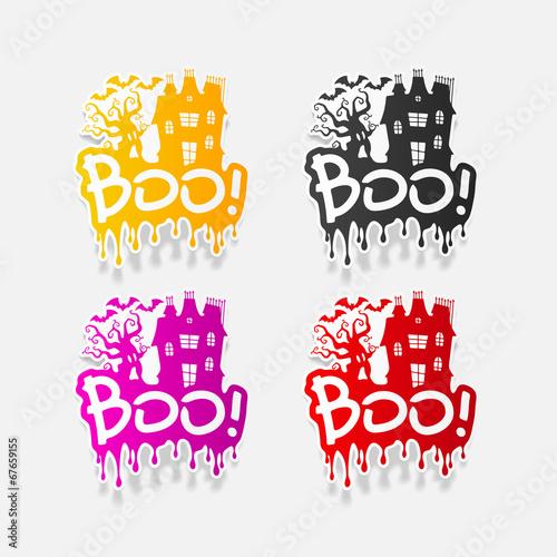 Fényképezés  realistic design element: boo