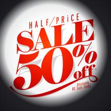 50 % Sale Banner.
