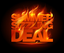 Fiery Summer Sizzling Deal Design.