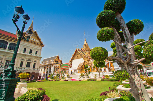 Photo Grand palace or Chakri Maha Prasat Hall in Thailand
