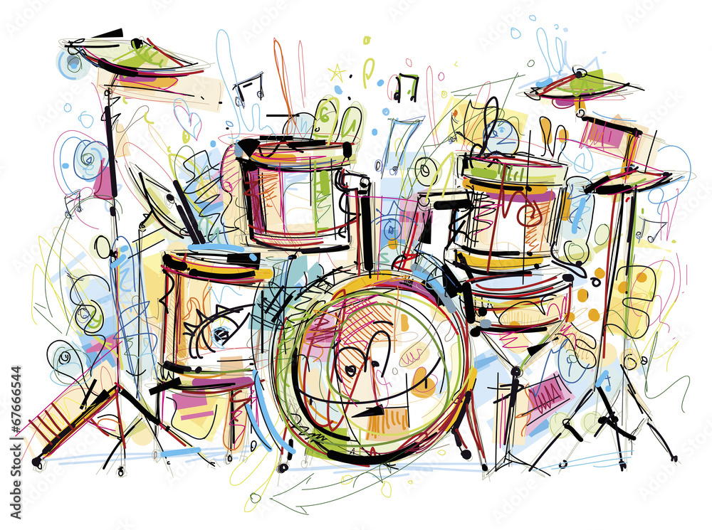 Fotografia Drums Set