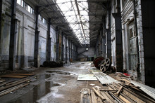 Interior Of An Abandoned Factory