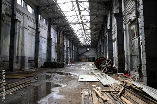 Papiers peints Les vieux bâtiments abandonnés interior of an abandoned factory