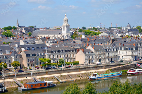 City of Angers in France Canvas Print