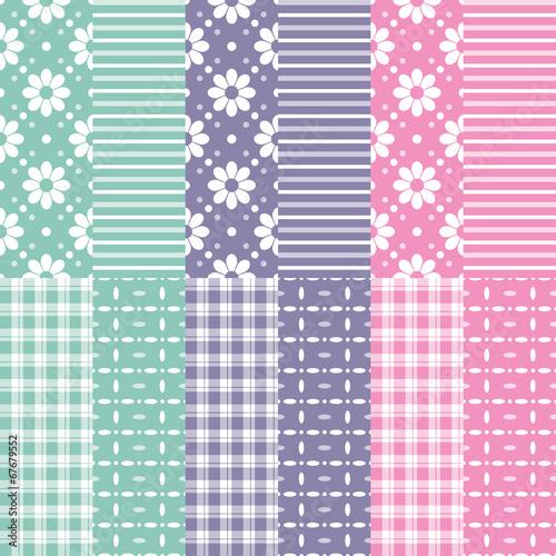 Türaufkleber Künstlich cute baby girl and boy pattern collection