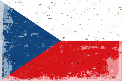 Photo  flag czech republic