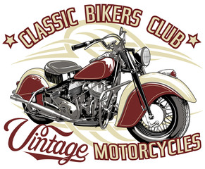 Obraz na Szkle Motor classic bikers club