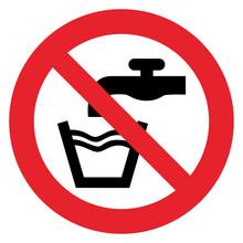 Prohibition Sign NO POTABLE WATER