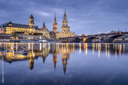 City on the water Dresden, Germany cityscape on the Elbe River