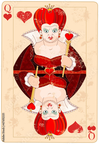 Queen of Hearts Card Canvas-taulu