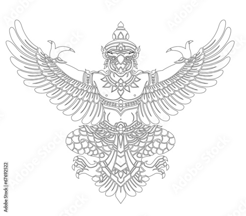 Garuda vector Wallpaper Mural