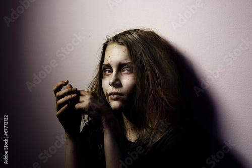 Fotografie, Tablou Girl patient psychological hospital