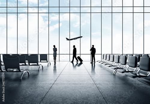 Fototapeta businessman in airport