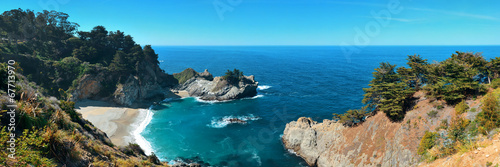Aluminium Prints Blue Big Sur