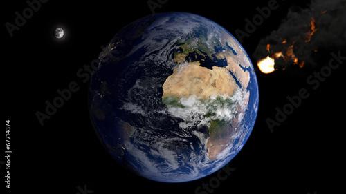 Deurstickers Nasa Asteroid & Eurafrica