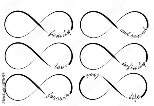 Fotografia  Infinity symbols