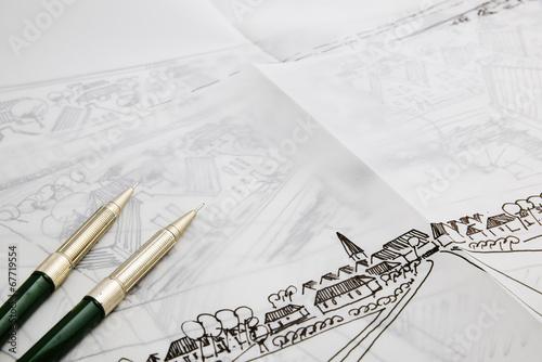 Obraz Architectural draft - fototapety do salonu
