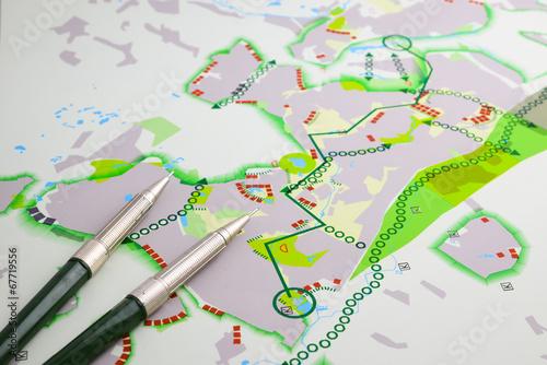 Türaufkleber Darknightsky Land planning