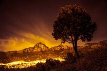 Sedona Arizona Seen At Night