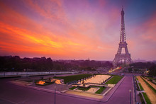Sunrise In Paris, With The Eif...