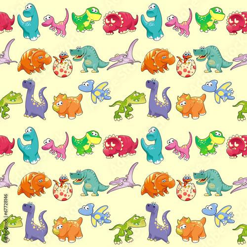 grupa-smieszne-dinozaurow-z-tlem