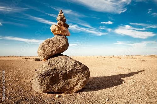 Leinwand Poster Rock cairn