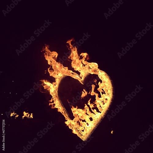 Photo heartb in fire
