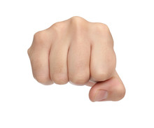 Hand Signs. Punch Fist Isolate...