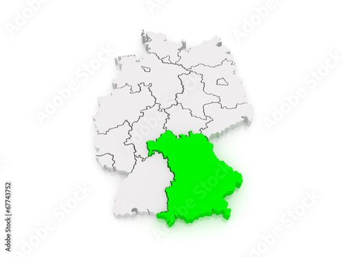 Map of Bavaria. Germany. - Buy this stock illustration and explore ...