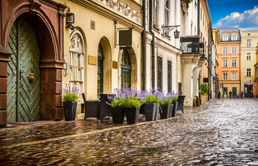 Obraz na Plexi Krakow - Poland's historic center, a city with ancient