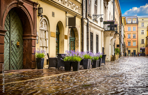 Fototapeta Krakow - Poland's historic center, a city with ancient obraz
