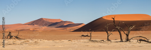 Aluminium Prints Africa Panorama of the Sossusvlei