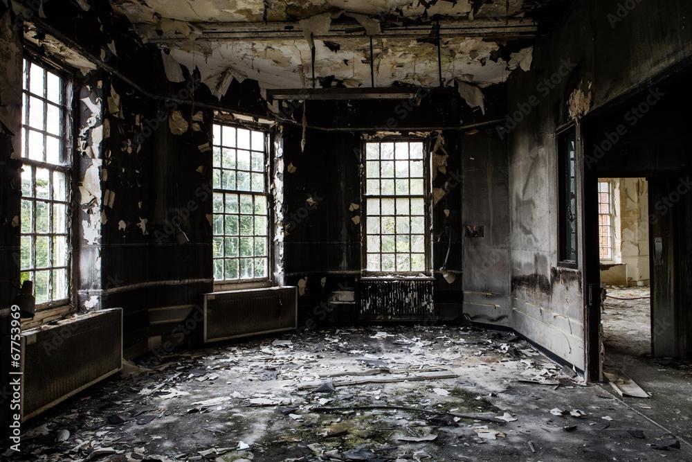 Fototapeta old abandoned building