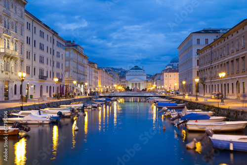 City on the water Canal Grande in Trieste