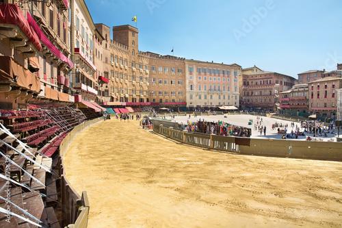 Obraz na plátně Piazza del Campo Siena,Tuscany,Italy