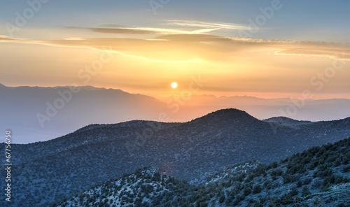 Tuinposter Zwavel geel Ancient Bristlecone Pine Forest Sunset