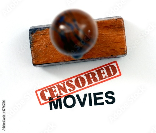 Spoed Foto op Canvas Canada Censored movies