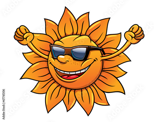be27c9277c Fun loving tropical sun in sunglasses - Buy this stock vector and ...