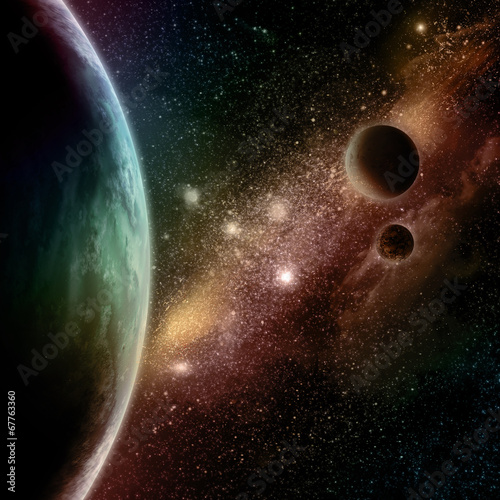 Foto op Plexiglas Bruin Abstract space background