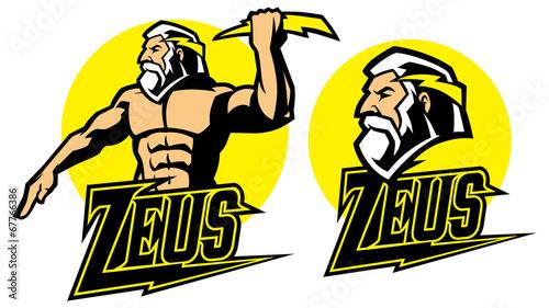 zeus god mascot Canvas Print