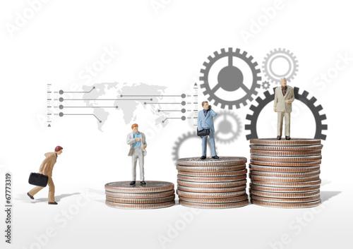 Fotografie, Obraz  business man miniature figure concept idea to success business.