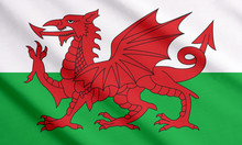 Waving Flag Of Wales