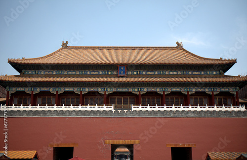 Foto op Aluminium Beijing Meridian Gate of the Forbidden City, Beijing, China