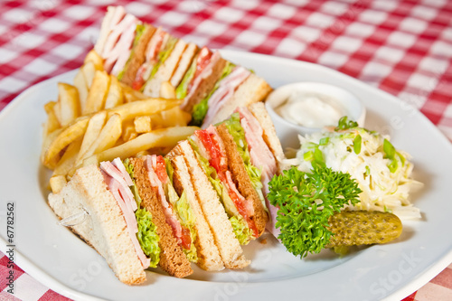 Photo  Clubhouse sandwich