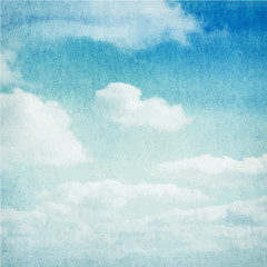 FototapetaWatercolor clouds and sky background