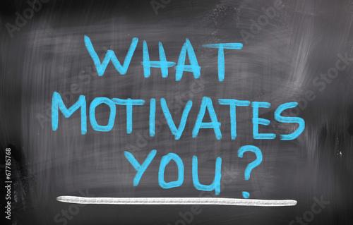 Fotografie, Obraz  What Motivates You Concept